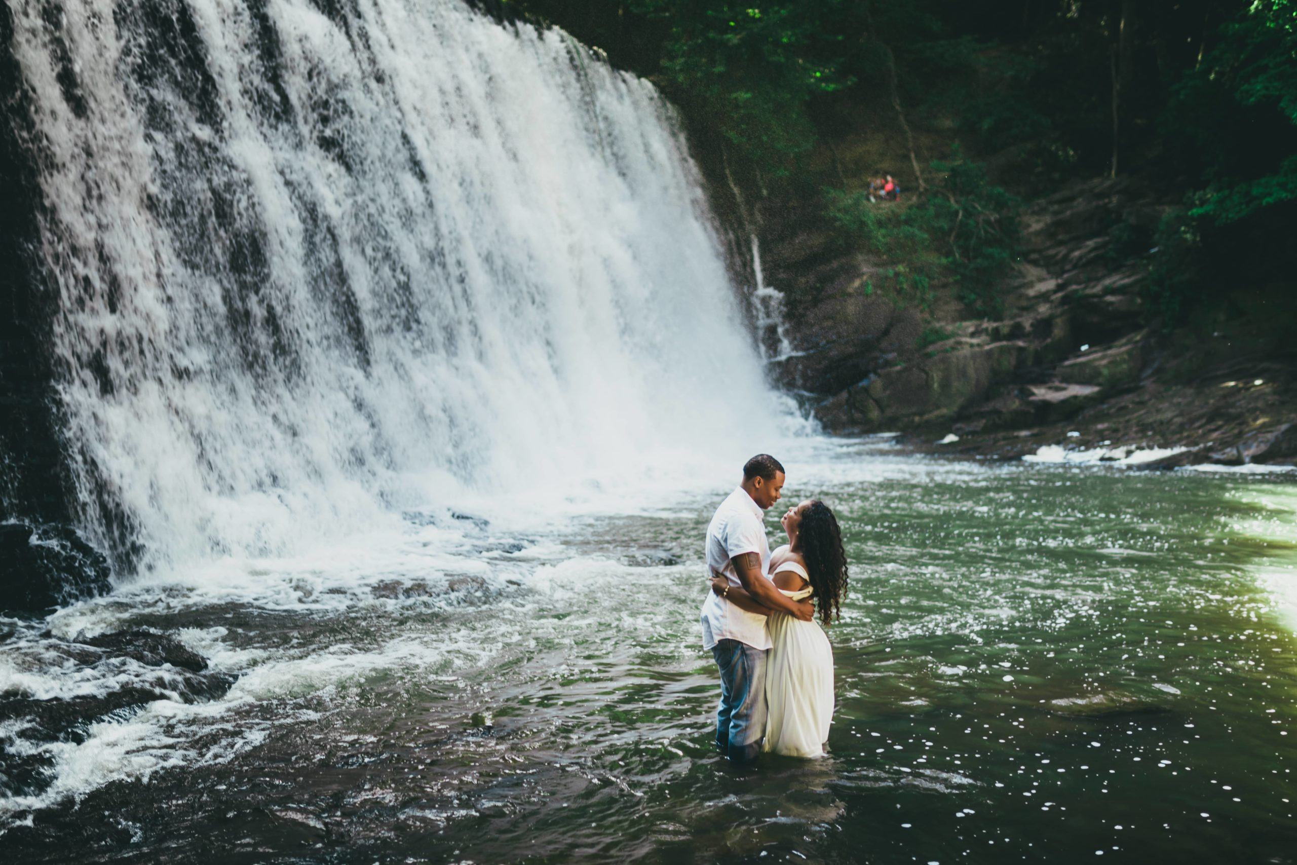 Atlanta Wedding Photographers Waterfall Engagement Session