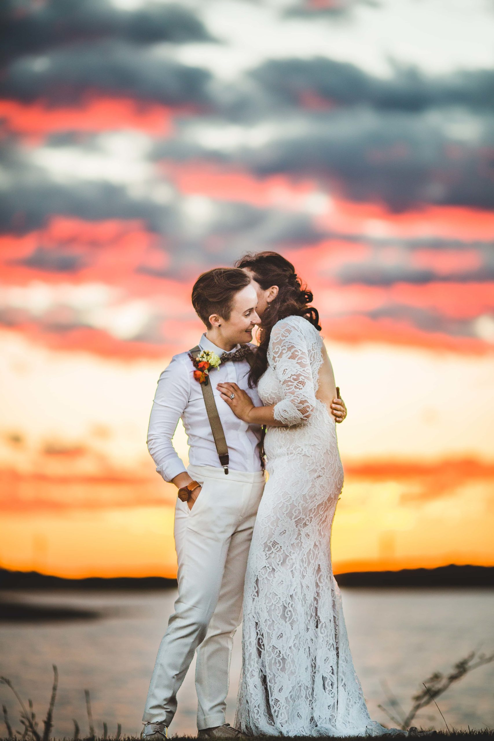 Atlanta Wedding Photographer LGBTQ Wedding Sunset
